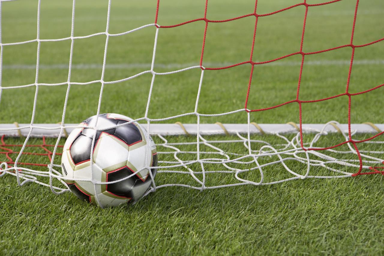 Soccer Ball in Goal Net  0d6d7a6bf